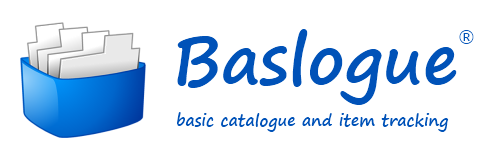 Baslogue - basic catalogue and item tracking